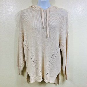 American Eagle Hooded Oversized Knit Sweater L NWT